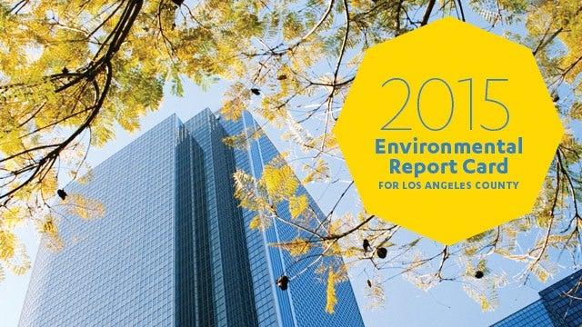 2015 Environmental Report Card Cover