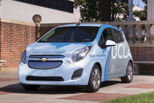 In addition to encouraging commuters to take alternative transit, alternative-fuel vehicles make up about half of UCLA Transportation's fleet.