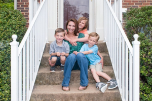 Annie Powell, 35, and her children, Cameron, 5, Emily, 8, and Jacob, 5, at their home on May 7, 2016 in Sterling, Va.