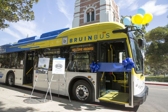 The batteries can run for up to 145 miles of typical driving on the campus service routes.