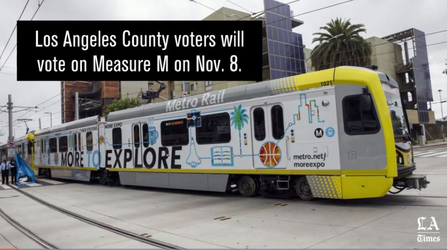 Measure M would raise the county's sales tax and nearly double the length of the Metropolitan Transportation Authority's rail network.